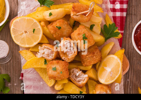 Fish and chips. Banque D'Images
