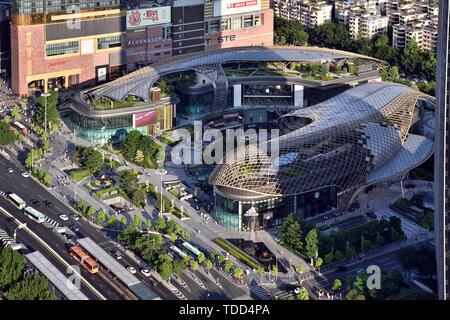 Guangzhou Tianhuan Plaza Banque D'Images