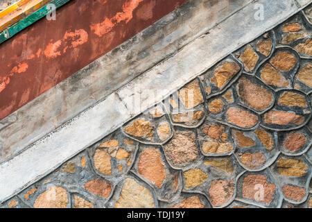 La texture du mur de l'ancienne texture vieux mur Banque D'Images