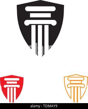 Logo et symbole de la colonne Modèle vectoriel Banque D'Images