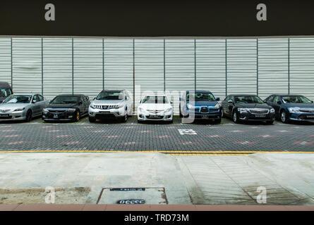 Singapour-jun 19 2017:parking HDB Singapour Banque D'Images