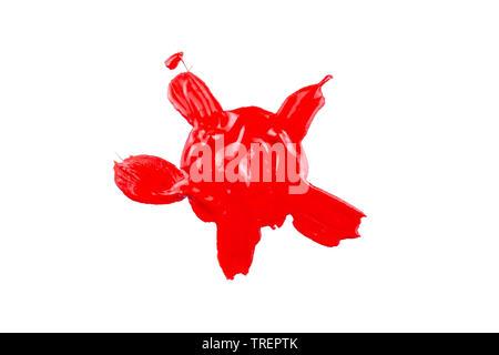 Enduire de peinture rouge à lèvres de dessin abstrait sous