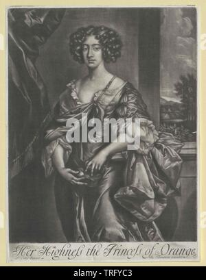 Marie II, reine d'Angleterre, Additional-Rights Clearance-Info-Not-Available- Banque D'Images