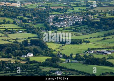 Les pays frontaliers et Forkhill de Slieve Gullion, Co Armagh, en Irlande du Nord Banque D'Images