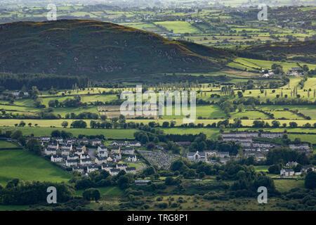 Mullaghbawn & la frontière du pays, Slieve Gullion Co Armagh, en Irlande du Nord Banque D'Images