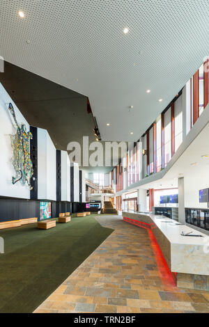 Le foyer de la Cairns Performing Arts Center, achevé à la fin de 2018. Cairns, Queensland, Australie