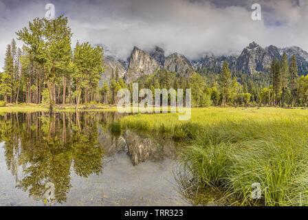 La Vallée Yosemite Marbre, USA Banque D'Images