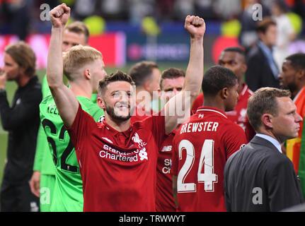 MADRID, ESPAGNE - juin 1, 2019: Dejan Lovren de Liverpool sur la photo après la finale de l'UEFA Champions League 2018/19 entre Tottenham Hotspur (Angleterre) et Liverpool FC (Angleterre) à Wanda Metropolitano. Banque D'Images