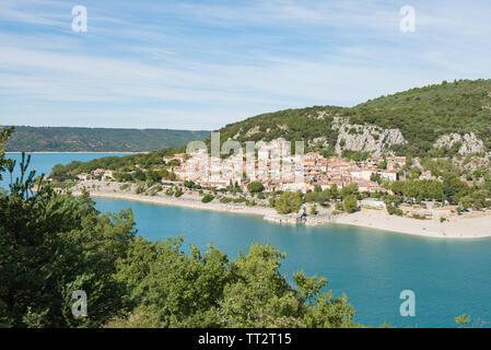 Village de Bauduen, Lac de Sainte Croix, le Verdon, france Banque D'Images