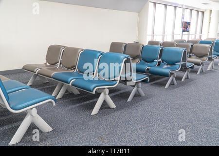 Chaises d'attente de l'aéroport, l'attente président pour passager dans l'aéroport Banque D'Images