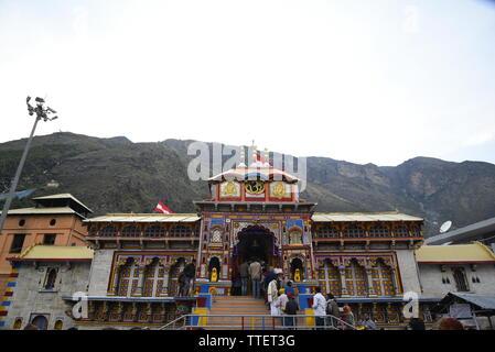 Lieu Saint Seigneur Vishnu Temple Badrinath Badrinath, 2019 Ville, District Chamoli, Uttrakhand, Inde, Asie
