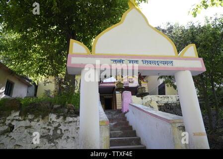 Ganesh Gufa ou caverne à l'Inde, dernier village Village Mana 2019 près de Badrniath Rudrapryag , Chamoli, Inde, Asie,