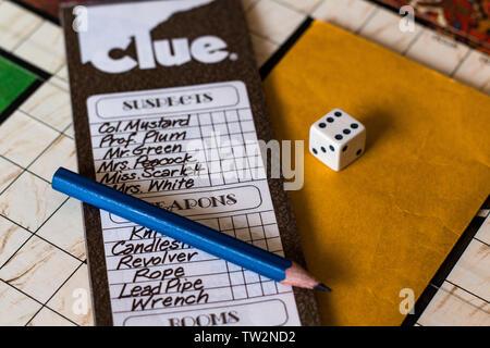 Indice 1972 - La liste de contrôle du jeu