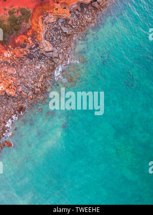 Une vue aérienne de Gantheaume Point dans Broome, Australie occidentale. Banque D'Images