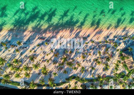 Vue aérienne de Caribbean resort, Punta Cana, République Dominicaine Banque D'Images