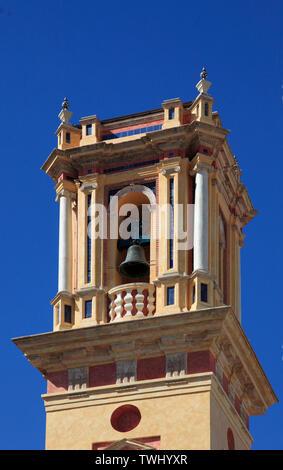 L'Espagne, Andalousie, Séville, San Bartolome, clocher de l'Église,