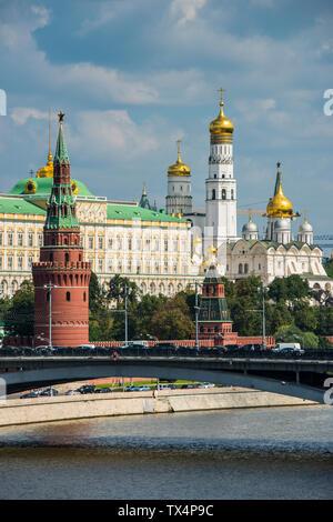 La Russie, Moscou vu d'une rivière croisière le long de la Moskova Banque D'Images