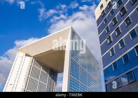 Paris, France - 10 juillet 2018: La Grande Arche, dans le quartier de la Défense à Paris Banque D'Images