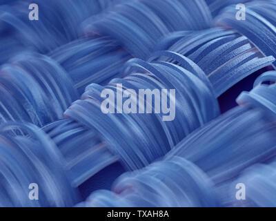 Rendu 3d illustration d'une vue microscopique de tissu