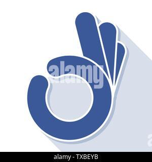 Résumé OK OK symbole main, vector Banque D'Images