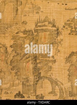 Sixième des Neuf plis au Mont Wuyi, Chine (image 3 de 5); Corée, Corée, dynastie Joseon (1392-1910), Tableaux du XVIIe siècle défilement suspendu, encre sur ramie ou chanvre image : 20 3/4 x 23 1/8 in. (52,71 x 58,74 cm) ; montage : 48 3/4 x 25 po. (123,83 x 63,5 cm) ; rouleau : 27 1/4 po. (69,22 cm) Acheté avec Museum Funds (M. 2000.15.20) Korean Art; date du XVIIe siècle QS:P571,+1650-00-00T00:00:00Z/7;