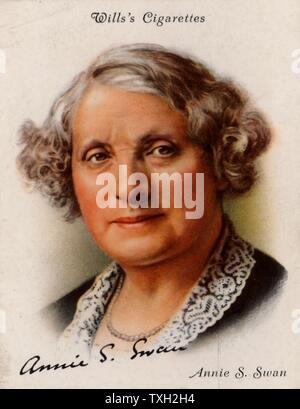 Annie S(hepherd) Swan (1859-1943) écrivain et romancier populaire écossais, né à Edimbourg. Produit jusqu'à 150 livres entre 1880 et 1926, la plupart de qui a paru entre 1880 et 1900. À partir d'une série de cartes de la célèbre 'Auteurs' (Londres, 1937).