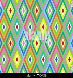 Géométrique vectoriel continu de fond couleur rhombus Banque D'Images