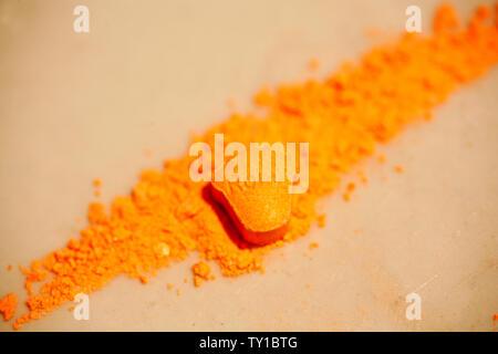 La MDMA Extasy macro fond fine art dans des impressions de haute qualité