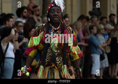 Carnaval des Cultures à Berlin, 09.06 2019 Banque D'Images