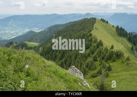 Bad Tölz, Bad Toelz, brauneck, Alpes bavaroises, Upper Bavaria, Bavaria, Germany Banque D'Images