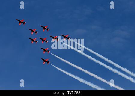 Les flèches rouges à Torbay Air show 2019