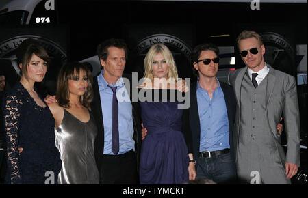 Zoe Kravitz, Kevin Bacon, January Jones, James McAvoy et Michael