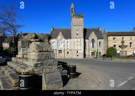 La Croix de Middleham, village de Middleham, North Yorkshire County, England, UK Banque D'Images
