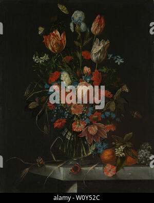Still Life with Flowers (1673). Ottmar Elliger, (I) Banque D'Images