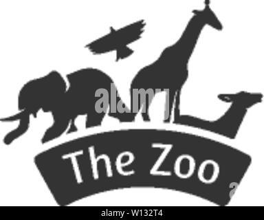 Gate Zoo gris unique en couleur. Jungle safari parc Animal Banque D'Images