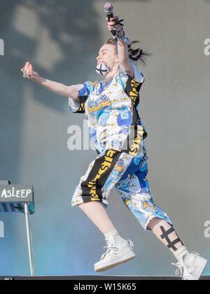 Pilton, Somerset, Royaume-Uni. 30 Juin, 2019. Billie Eilish joue l'autre étape - Le festival de Glastonbury en 2019, digne ferme, Glastonbury. Crédit: Guy Bell/Alamy Live News Banque D'Images
