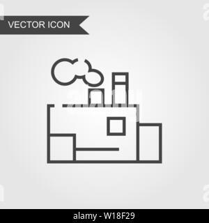 L'icône de la ligne de l'usine. Vector mail style linéaire pour page web, marketing, mobile application, élément graphique, logo sur fond isolé