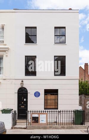 Vue avant de l'extérieur maison récemment rénovée que Vincent van Gogh a vécu dans la première fois qu'il a déménagé à Londres en 1873. Banque D'Images