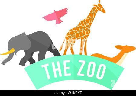 Gate Zoo en télévision couleur. Jungle safari parc Animal Banque D'Images