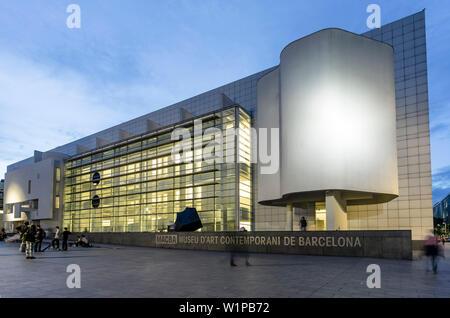 Le MACBA, Musée d'Art Moderne par Richard Maier Banque D'Images