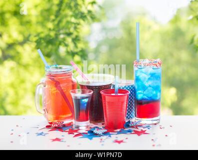 Des boissons sur l'indépendance américaine day party