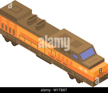 Train de fret, l'icône de style isométrique Banque D'Images