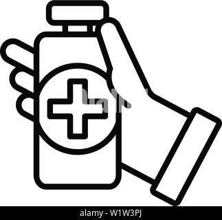 Désinfection médicale, l'icône de style contour Banque D'Images