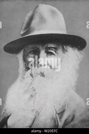 WALT WHITMAN (1819-1892) poète et journaliste américain en 1887