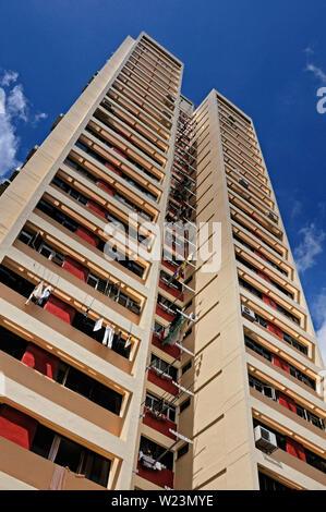 Singapour, Singapour - 20 novembre 2011: le logement public hdb immeuble résidentiel dans le quartier de Toa Payoh Banque D'Images