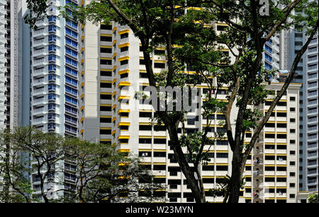 Singapour, Singapour - 20 novembre 2011: le logement public hdb bâtiments résidentiels à Toa Payoh district Banque D'Images