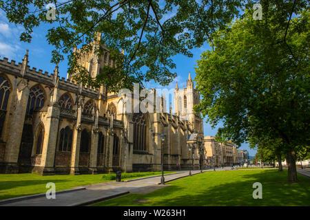 Bristol, UK - 29 juin 2019: une vue sur la magnifique cathédrale de Liverpool de College Green dans la ville de Bristol en Angleterre.