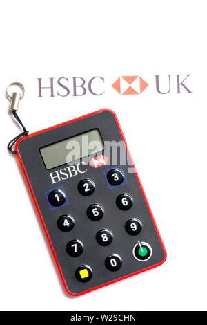 United Kingdom. Clé sécurisée HSBC HSBC couché sur du papier à en-tête Banque D'Images