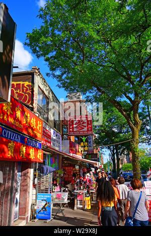 Des scènes de rue de Chinatown dans le centre-ville de Toronto, Ontario, Canada Banque D'Images