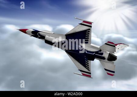 General Dynamics F-16 Fighting Falcon Thunderbird
